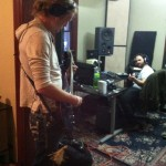 Bret recording with Cade